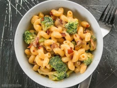 One Pot Bacon Broccoli Mac and Cheese