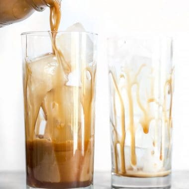 A little fine sea salt helps this Homemade Salted Caramel Iced Coffee stay smooth and taste extra sweet. Make this coffee house favorite at home for less! BudgetBytes.com