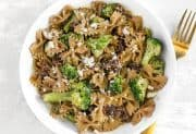 Skillet Pasta with Sun Dried Tomatoes Walnuts and Feta
