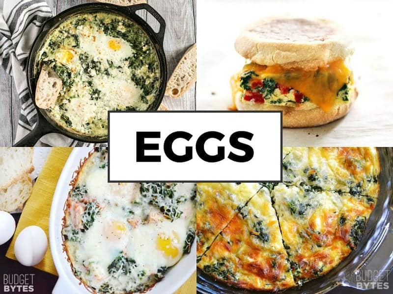 Spinach and Egg Dishes