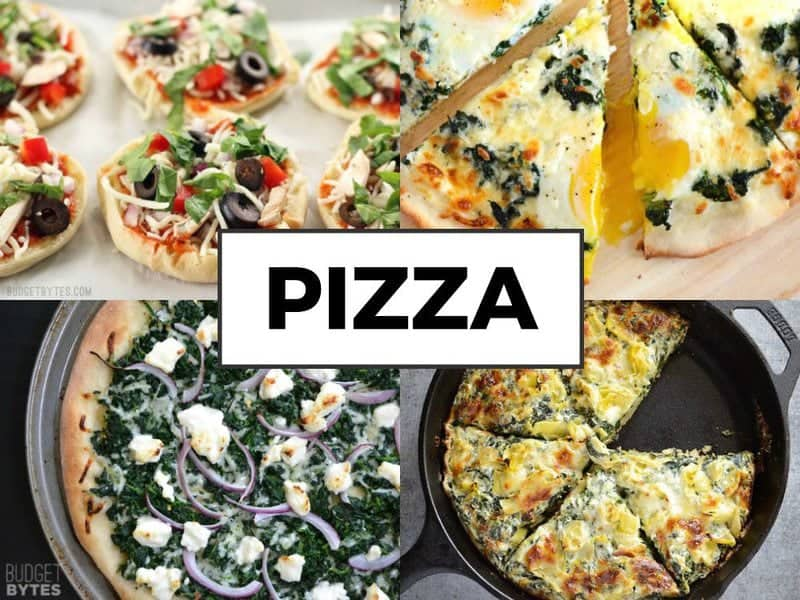 Spinach Pizza Dishes