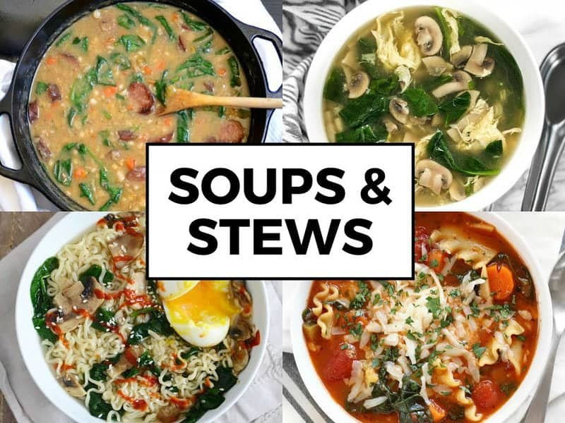Spinach Soups and Stews
