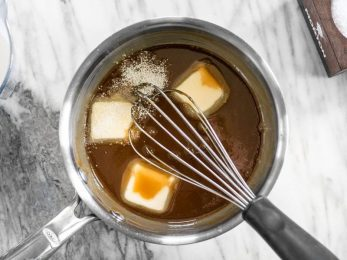 Whisk in Butter Salt and Vanilla