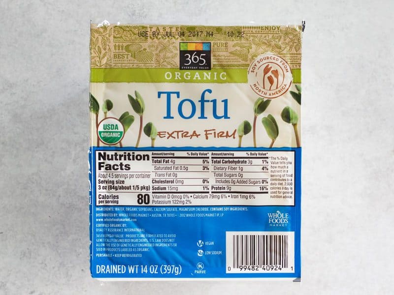 Extra Firm Tofu package