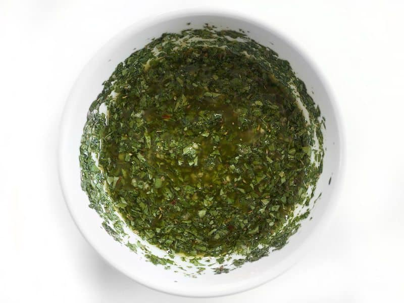 Finished Chimichurri in a bowl