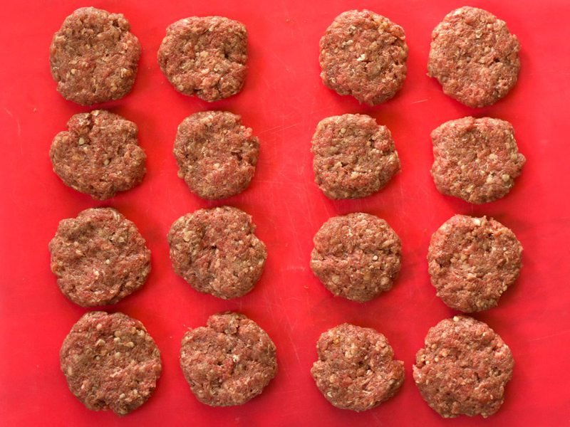 Mini Patties for Cheeseburger Salad
