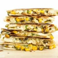 These smoky Roasted Corn Quesadillas are a fast and filling lunch that can be kept in the freezer for fast meals. BudgetBytes.com