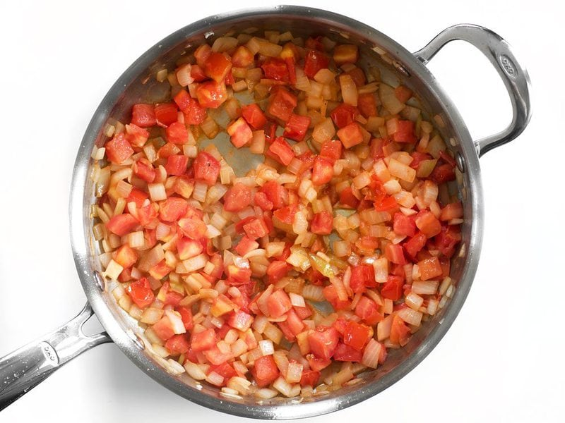Sautéed Tomatoes in the skillet