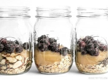 These Blueberry Almond Overnight Oats are naturally sweet without any added sugar, and provide plenty of flavor and texture to keep you happy and full all morning. BudgetBytes.com