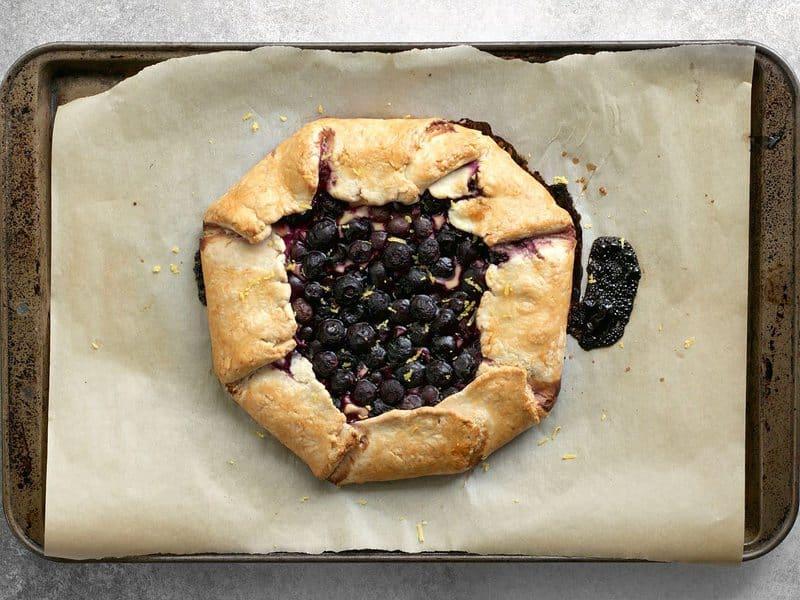 Baked Blueberry Galette