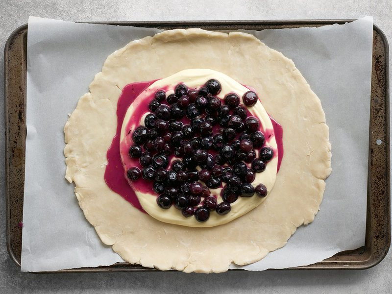 Blueberries on Galette