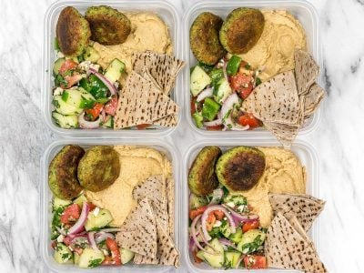 Sunday Meal Prep: Falafel and Hummus Box