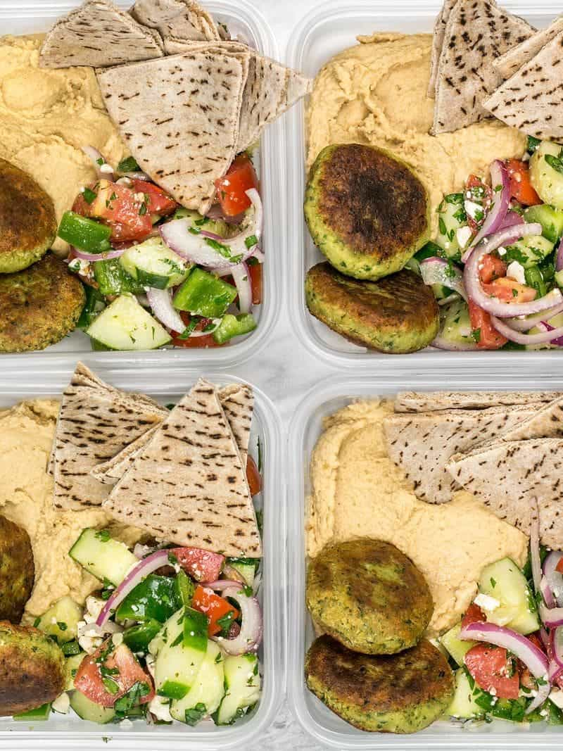 Falafel and Hummus Box Meal Prep