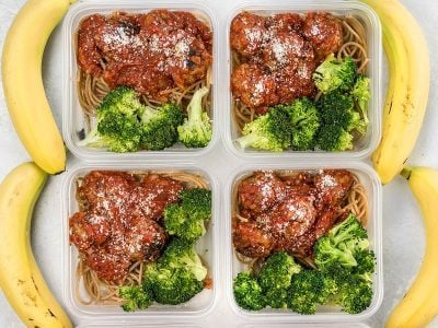 Skillet Meatballs and Marinara Meal Prep