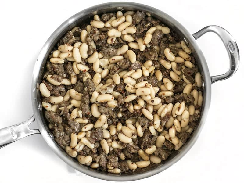 Add Cannellini Beans to skillet