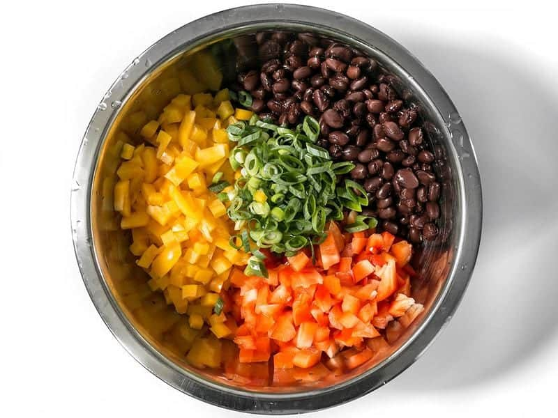 Black Beans Bell Peppers Green Onions