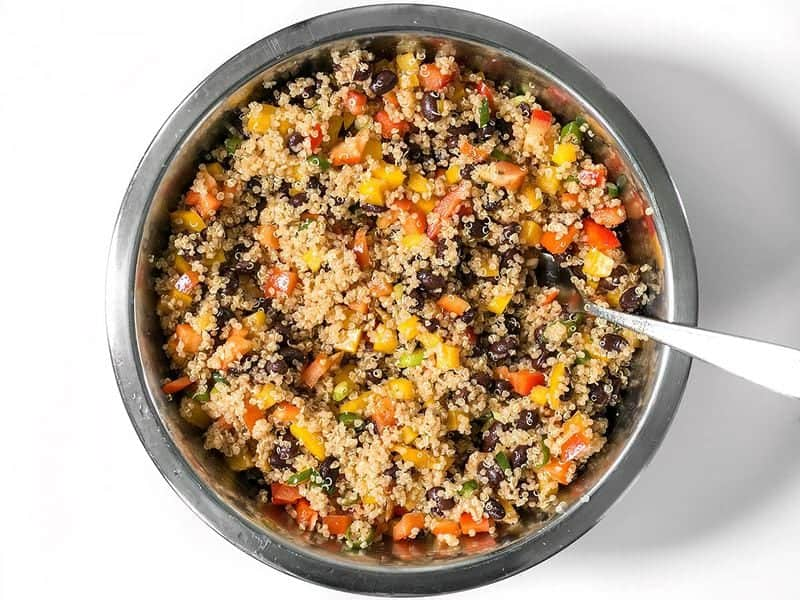 Finished Smoky Quinoa and Black Bean Salad