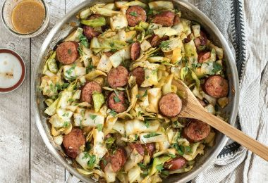 If you need a fast and easy weeknight dinner that is filling, flavorful, and low carb, this Kielbasa and Cabbage Skillet has you covered. BudgetBytes.com