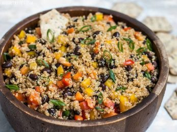 Whether enjoyed alone as a meal or as a side for grilled meat or fish, this Smoky Quinoa and Black Bean Salad is rich, smoky, and packed with flavor and nutrients. BudgetBytes.com