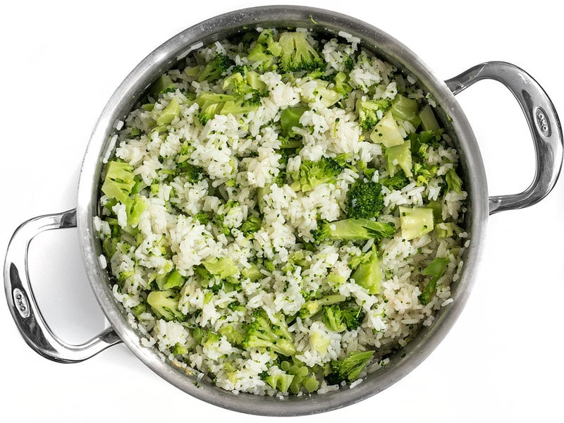 Add Broccoli to Easy Cheesy Broccoli Rice