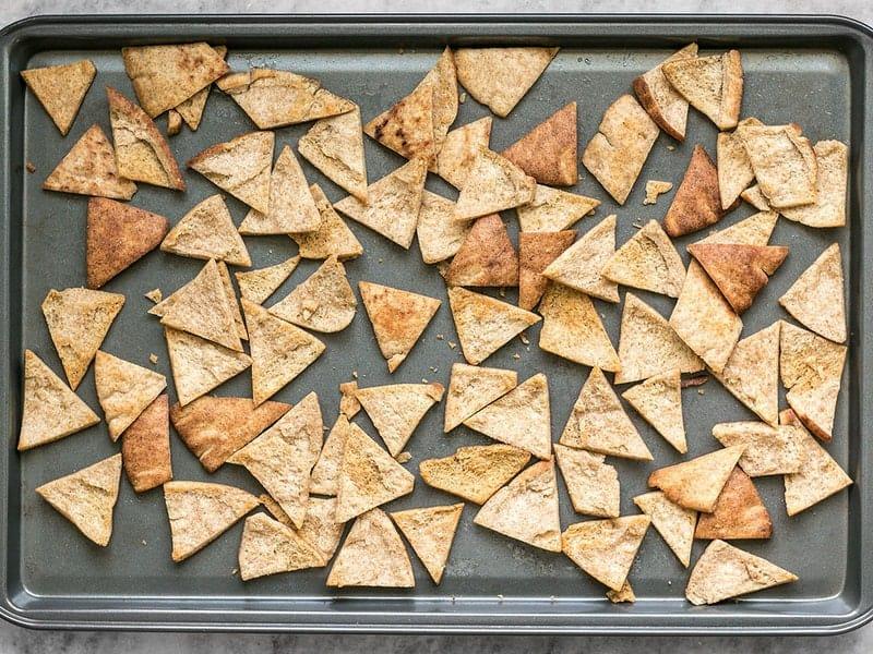 Baked Cinnamon Pita Crisps