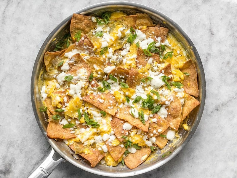 Baked Green Chile Migas