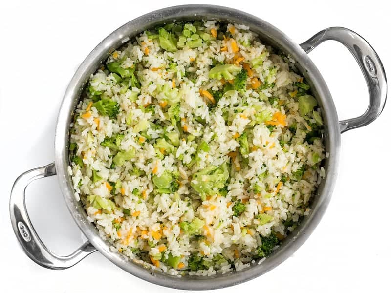 Finished Easy Cheesy Broccoli Rice