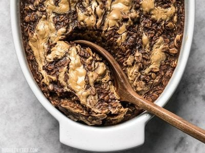 Peanut Butter Brownie Baked Oatmeal