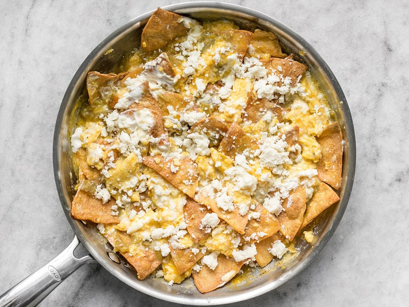 Queso Fresco on Green Chile Migas