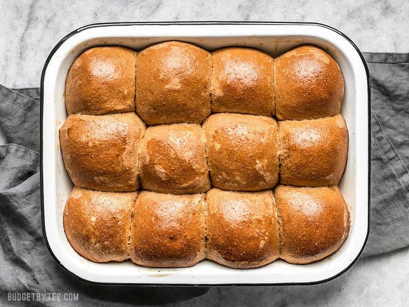 Baked Sweet Molasses Dinner Rolls