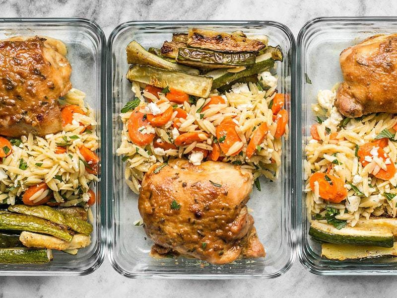 This week's Maple Dijon Chicken Thigh Meal Prep is all about oven roasting, fall flavors, and lots of vegetables. BudgetBytes.com