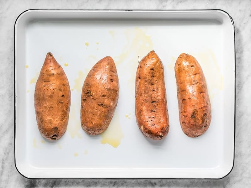 Oiled Sweet Potatoes