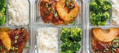 This Pineapple BBQ Chicken Meal Prep includes sweet and tangy chicken, rich and savory coconut rice, and tender broccoli florets. BudgetBytes.com
