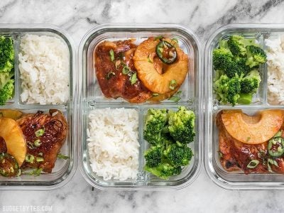Pineapple BBQ Chicken Meal Prep