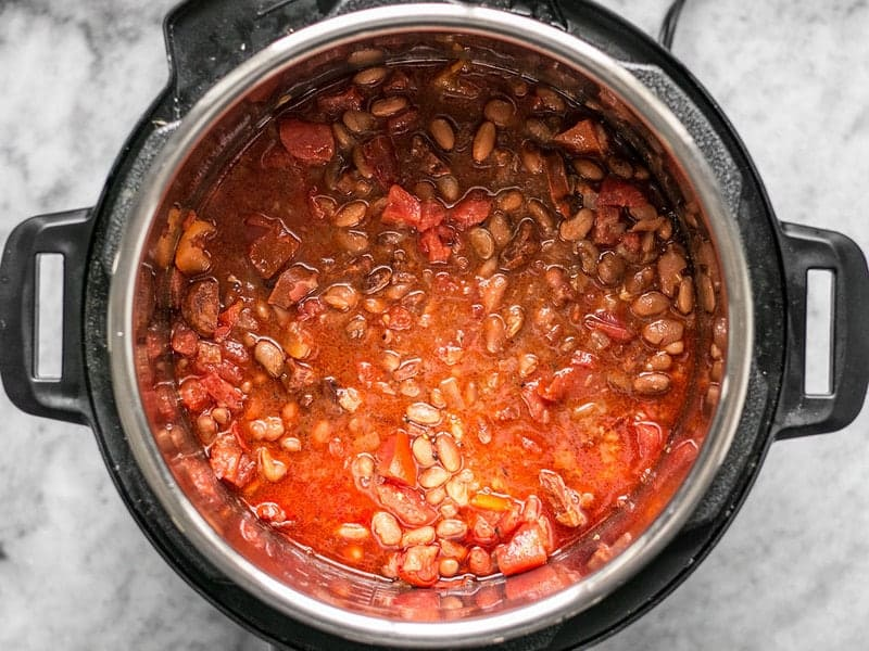 Add Diced Tomatoes to Beans