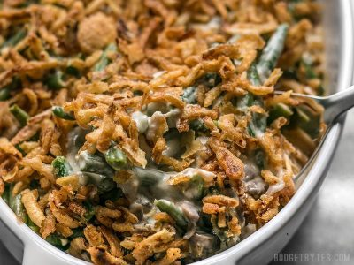 "The Creamiest Green Bean Casserole (with no ""Cream Of"" soup)"