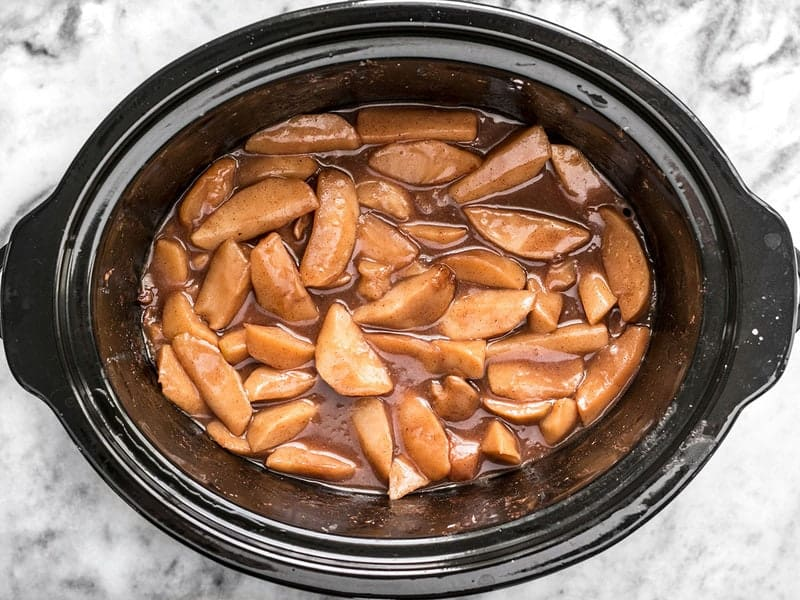 Slow Cooker Hot Buttered Apples finished