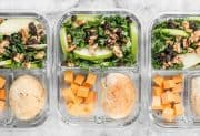 Apple Dijon Kale Salad Meal Prep