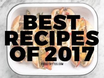 Discover the best recipes of 2017 from Budget Bytes. Budget-frienly, super tasty, and guaranteed to keep your belly full.