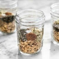 Preparing individual oat packs with seeds, seasoning, and other add-ins, like these Make Ahead Seeded Oats, makes having a healthy breakfast fast and easy. BudgetBytes.com