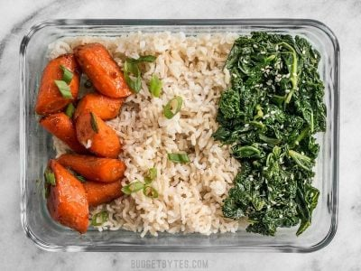 Maple Miso Roasted Carrot Meal Prep