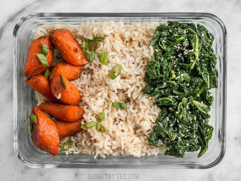 One Maple Miso Roasted Carrot Meal prep container
