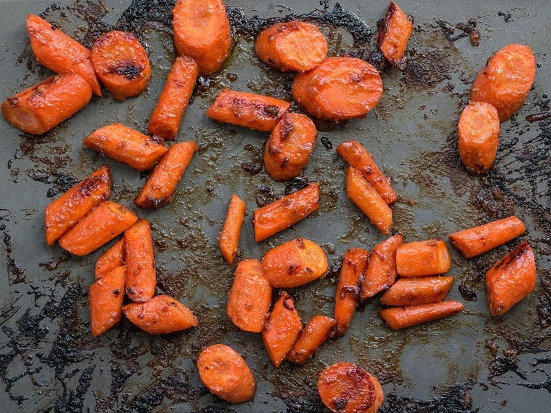 Maple Miso Roasted Carrots finished