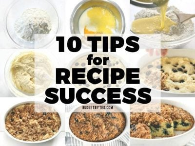 10 Tips for Recipe Success
