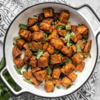 Spicy, aromatic, and earthy, these Moroccan Spiced Sweet Potatoes will add an adventurous flavor to any dinner! BudgetBytes.com