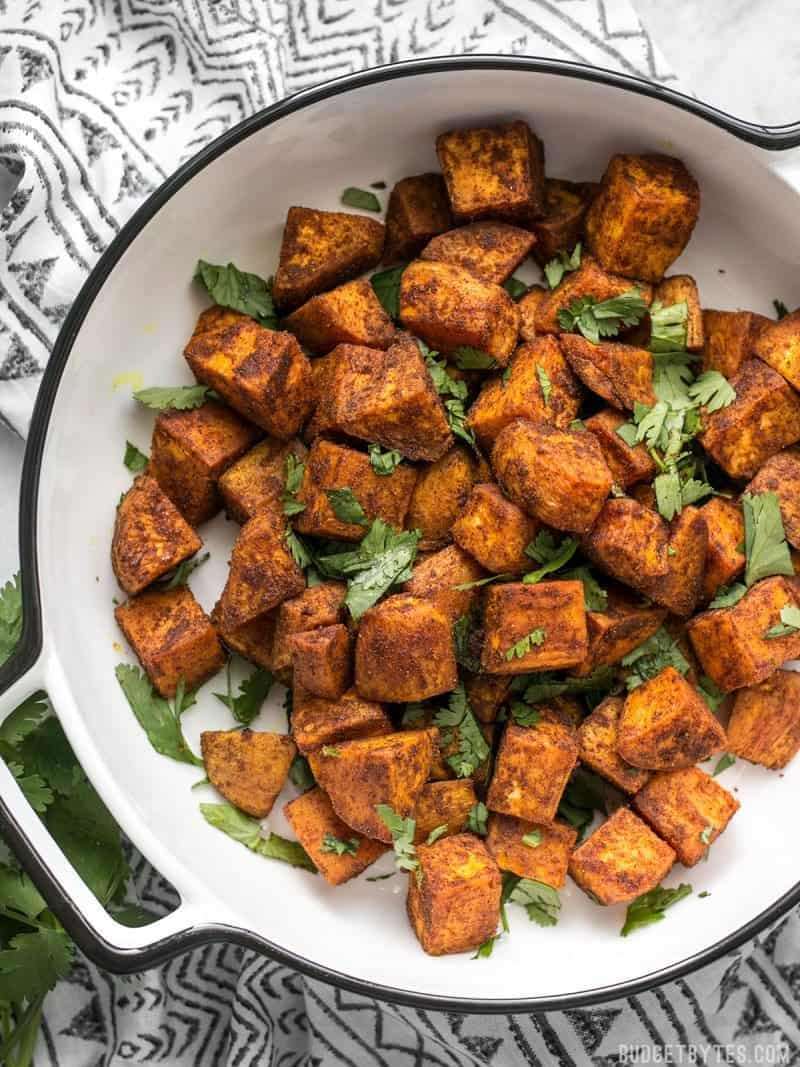 Moroccan Spiced Sweet Potatoes Step By Step Phtotos Budget Bytes