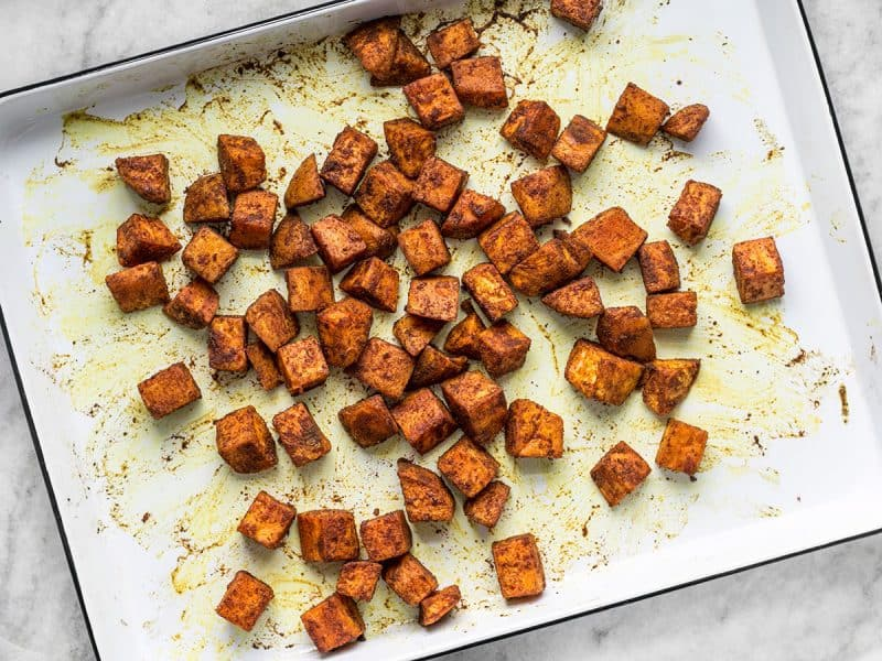 Moroccan Spiced Sweet Potatoes Roasted