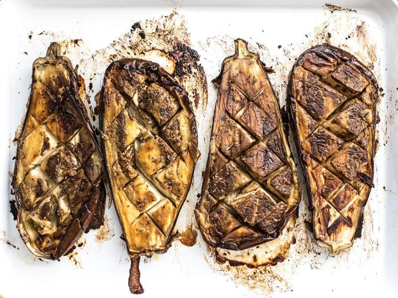 Roasted Eggplant Flipped