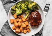 Sheet Pan BBQ Meatloaf Dinner