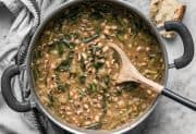 Slow Simmered Black Eyed Peas and Greens